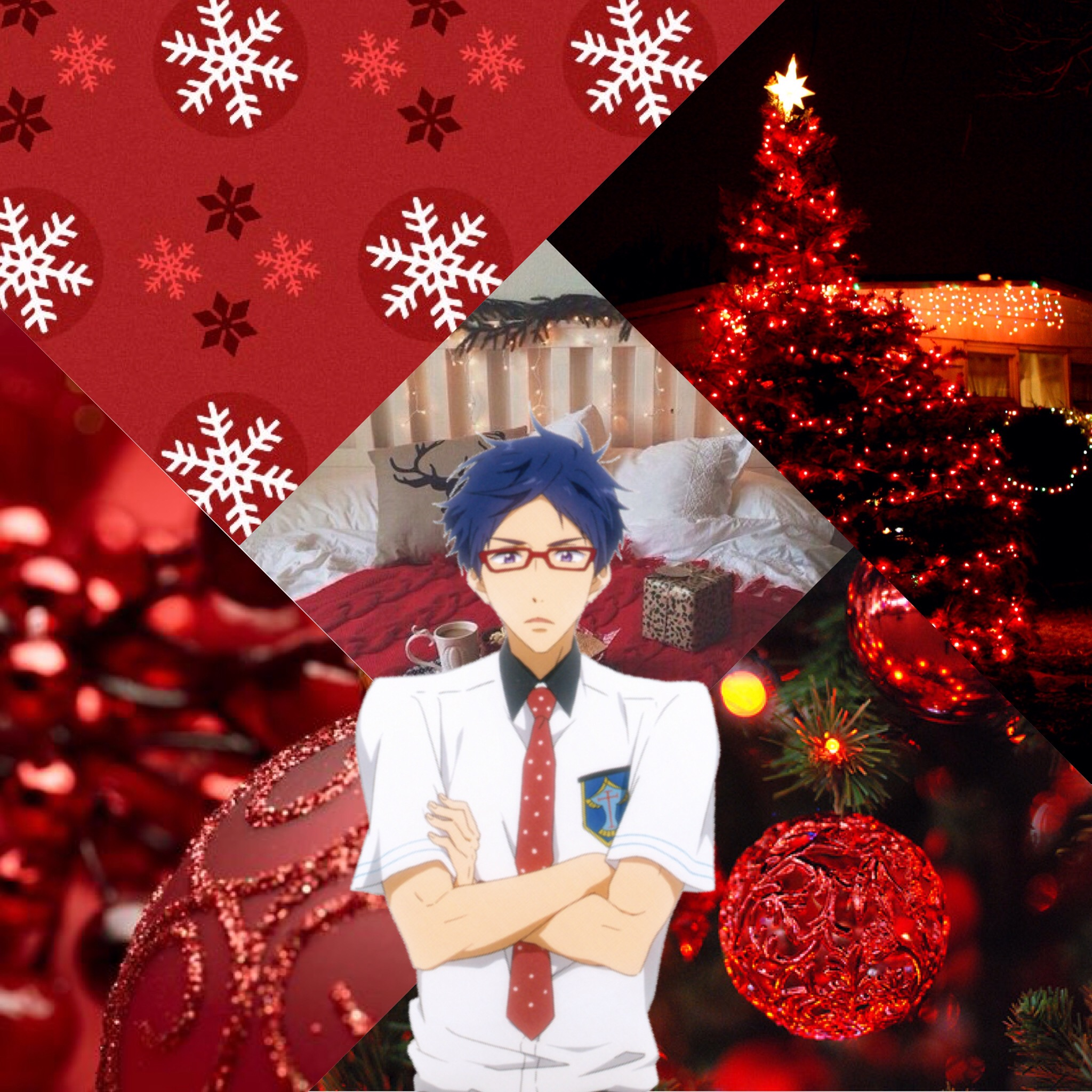 Christmas Wallpaper Aesthetic: Merry Christmas! ️ Christmas Anime Aesthetic Red Tumbl