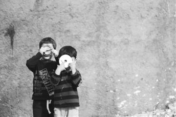 children blackandwhite freetoedit photography people