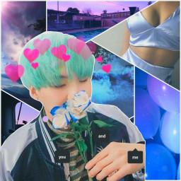 suga heart flower yoongi bts