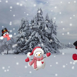 freetoedit snow snowman oilpaintingeffect dailyremixmechallenge