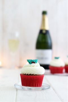 cupcakes cava champagne sweet christmas