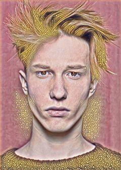 freetoedit remix magiceffect rosegold portrait