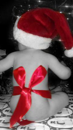 freetoedit christmas love baby colorsplash