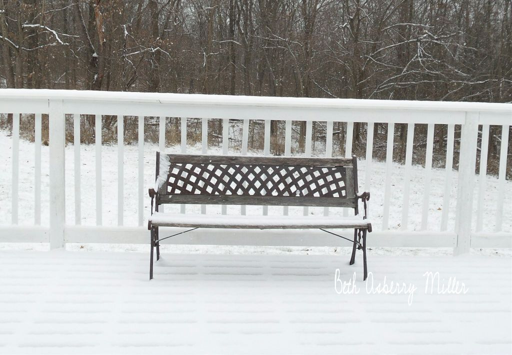 #FreeToEdit  #snow  #bench