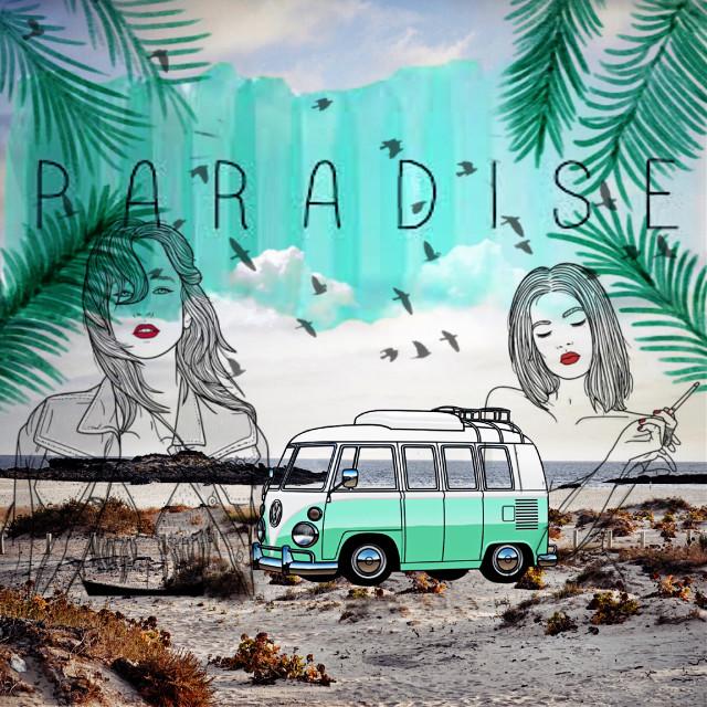 #FreeToEdit #remix #paraiso #paradise #wolkswagen #hippie