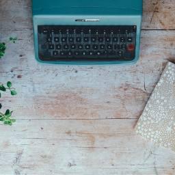 FreeToEdit plant background typingmachine notebook