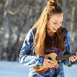 freetoedit winter music smile photography dpchappyplace dpcwomen