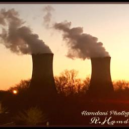 powerplant nuclearpowerplant outdoorphotography sunset evening