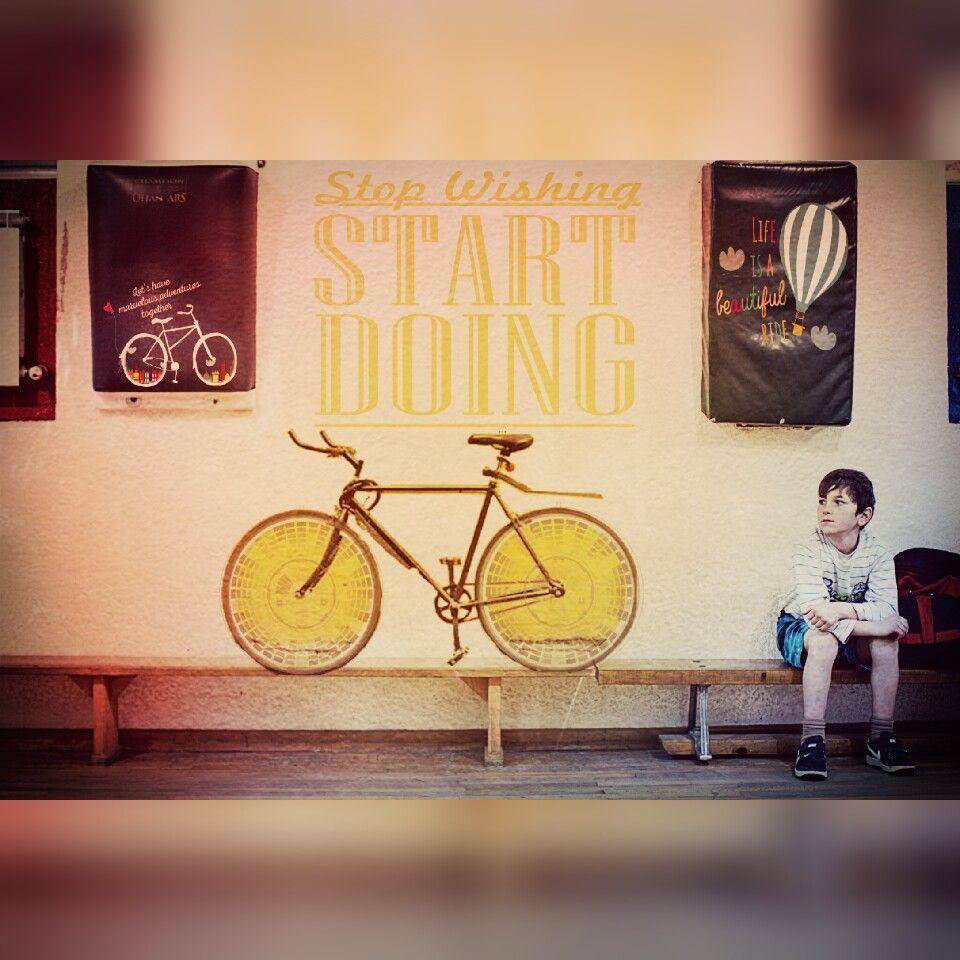 Stop wishing ☆ Start doing  #FreeToEdit #doubleexpousure #myeditoffreetoedit #dailyremixchallenge #rollonremix #rideabike #bicycle #boy #dreams