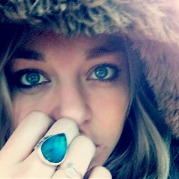 free selfie coldoutside blue freetoedit