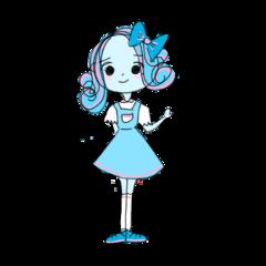 girlstickers cute blue pink beautiful freetoedit