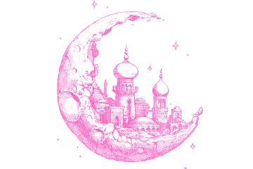moon kingdom pink kawaii freetoedit