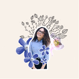 freetoedit flowerart girl remixed