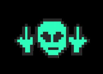 alien middlefinger 8bit
